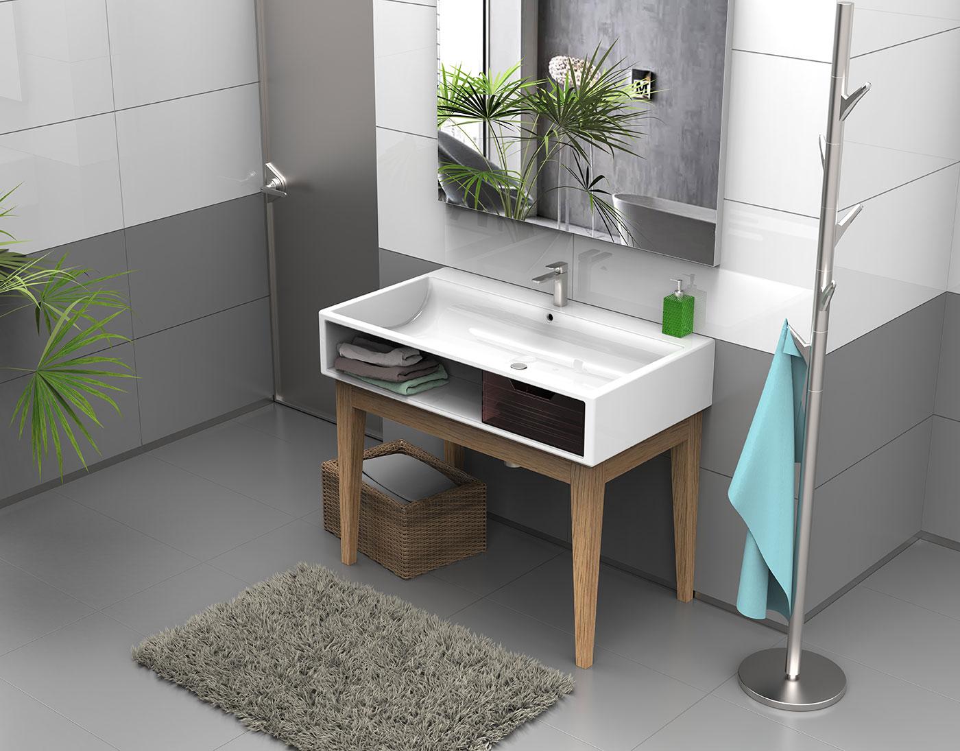 Koupelna umyvadlo zavěsit